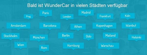 WunderCar Städte