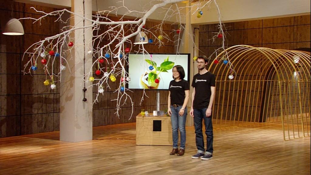 Mobile Garden Gründungsteam Akiko Takahashi und Christian Atz vor der Jury. (Bildnachweis: VOX/Sony)