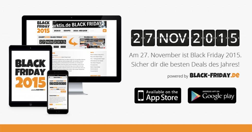 Die Black Friday 2015 App - Jetzt kostenlos