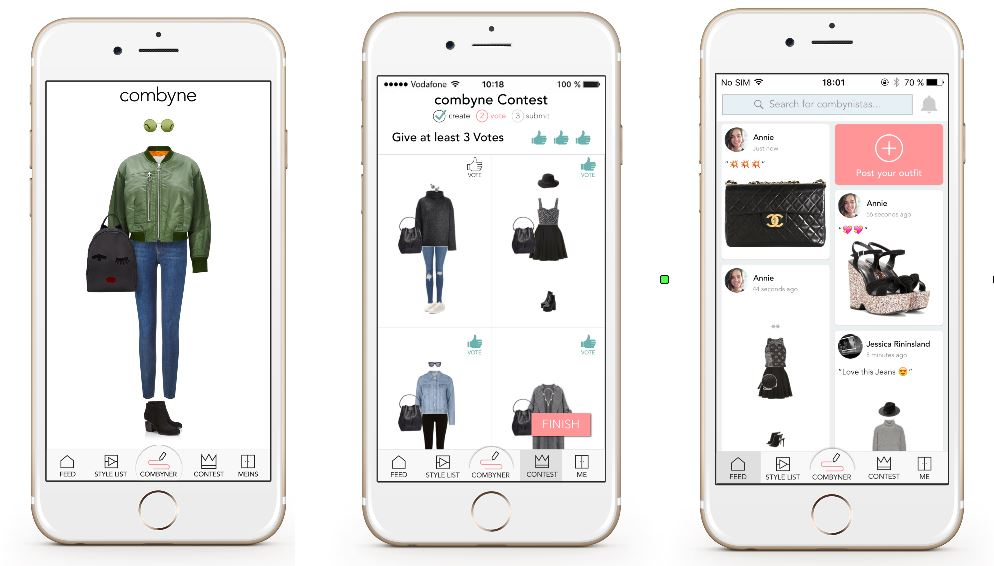 combyne app stellt klamotten richtig zusammen. Black Bedroom Furniture Sets. Home Design Ideas