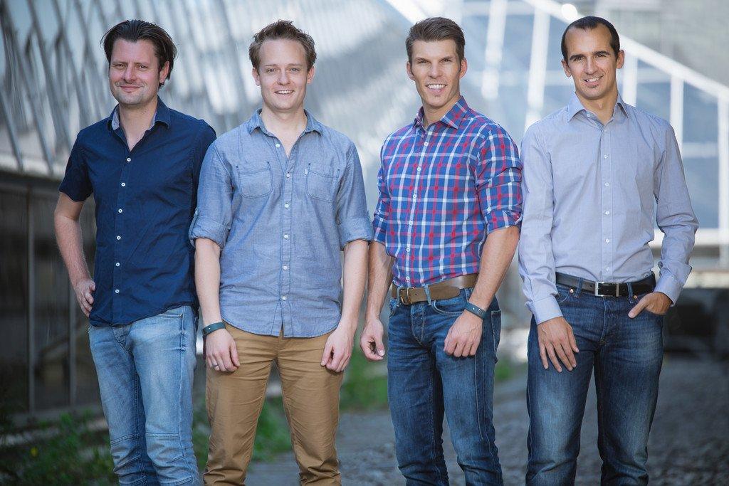 Das Gründerteam von Runtastic: Alfred Luger, René Giretzlehner, Florian Gschwandtner und Christian Kaar