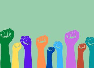 Diversität in Startups dargestellt durch verschiedenfarbige Hände