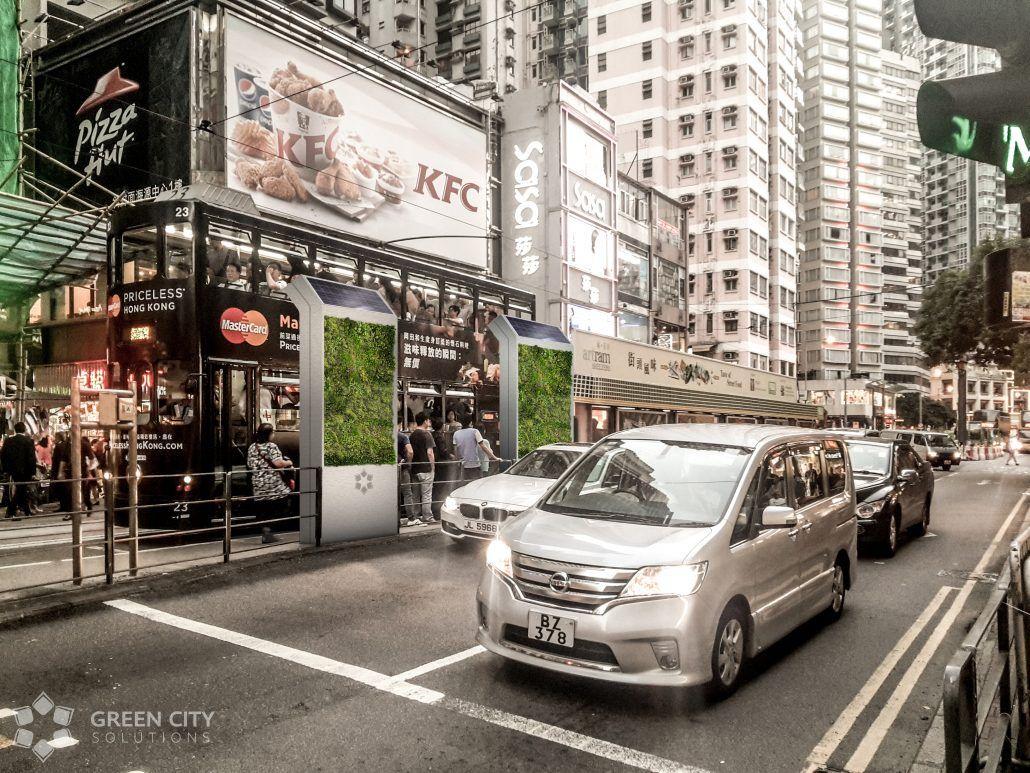 Einsatz Green City Solutions Beispiel Hongkong