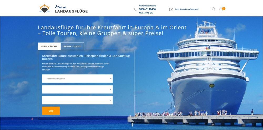 Landausflüge Start-up Tourismus