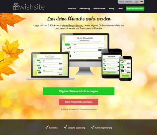 wishsite Start-up Geschenke