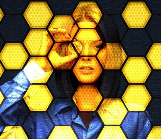 Blockchainnetzwerk dargestellt als Bienenwaben