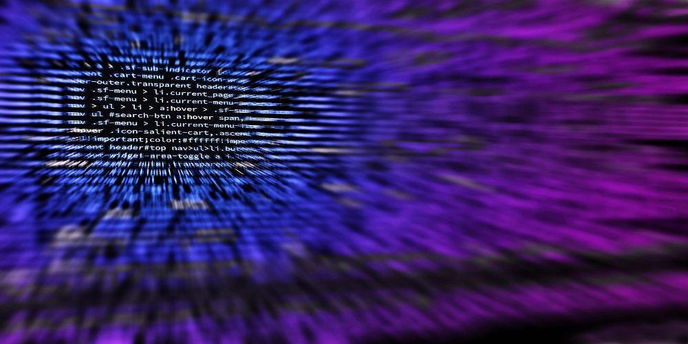 Codierungsbild als Darstellung eines Cyberangriffs
