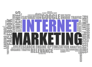 Internet Marketing Cluster mit Begriffen